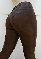 New Women's ROBIN'S JEAN sz 25 Skinny Jeans -Premium Brown Coated