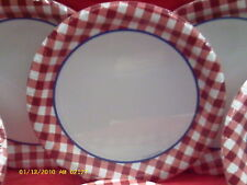 Wholesale lots of 12 Gingham Fum paper plates