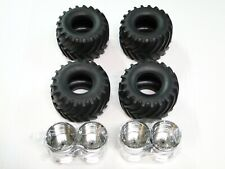 NEW TAMIYA SUPER CLODBUSTER CLOD BUSTER Tires & Wheels BLACK Chrom BULHEAD TC17K