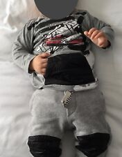 JOHN GALLIANO Kids BABY BOYS TOP & JOGGER/ SWEAT PANTS 2PC SET SZ 9 MONTHS EUC