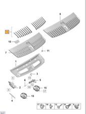 NUOVO Originale Porsche Macan GRIGLIA PARAURTI ANTERIORE SUPERIORE NERO FINITURA Coperchio Sinistro N//S
