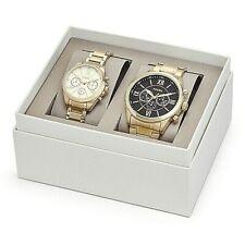 NWT Fossil Couple Watch His & Her GOLD Bracelet GRANT BQ2145 BQ2145SET $265