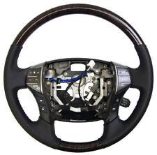 2011-2012 Toyota Avalon Steering Wheel Black Leather W/Woodgrain 4510007370C0