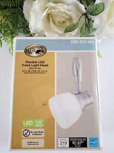 Hampton Bay Silver Flex LED Track Head Lighting Frosted Glass 1001 573 425