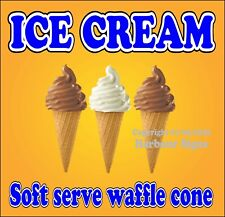 Ice Cream Soft Serve Waffle Decal Choose Size Concession Food Truck Sticker