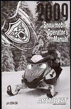 2009 ARCTIC CAT SNOWMOBILE OPERATOR'S OWNERS MANUAL P/N 2258-236  (905)