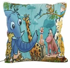 4 in 1 Pillow Blanket Bed Mat Fleece Shearloft Blanket Zoo Animal (Multicolor)