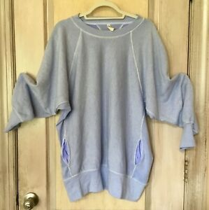 Free People Movement Sweatshirt Pullover Better Days Oversize LavenderBlue L NEW