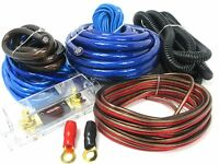 3500W Real 4 Gauge Amp Install Wiring Kit 4 AWG Amplifier Installation CableBLUE