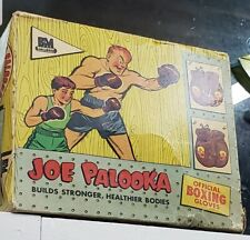 "VINTAGE 1950's JOE PALOOKA 9"" PAIR KIDS BOXING GLOVES **BOX ONLY**"