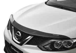 Genuine Nissan Qashqai J11 Tinted Smoked Bonnet Protector Mar 2014 Onwards