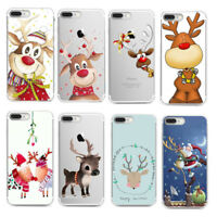 For Samsung S8 S7 S6 Xmas Christmas Soft Silicone TPU Skin Case Phone Back Cover
