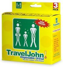 TravelJohn Disposable Urinal for Men, Women - Children 3 ea (Pack of 8)