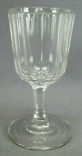 EAPG Paneled Possibly Huber Variant Claret Flint Wine Glass Circa 1850s
