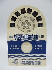 View-Master Reel 273, Maine Seacoast, York to Cape Porpoise, Hand Lettered Reel