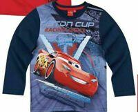 Disney Cars T-Shirt langarm Jungen Sommer Dunkelblau Größe 104 für 4 Jahre NEU