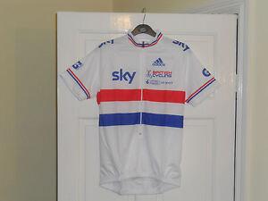 Adidas NEW National champion champ road cycling bike shirt jersey SKY team GB