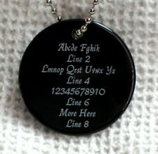 1 PERSONALIZED Circle Necklace - BLACK ONYX STONE