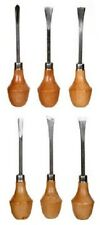 6 Piece Wood Carving Tools Set Wooden Round Handles Carve Tool Kit