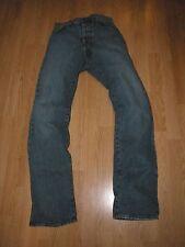 HUGO BOSS Orange Label HB1 Button Fly Straight Leg Blue Denim Jeans Mens 30 X 32
