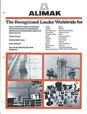 Equipment Brochure - Alimak - Construction Hoists Pump Crane - c1984 (E3419)