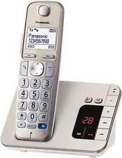 Panasonic KX-TGE220GN Champagner Festnetz-Telefon Analog, AB, Großwahltasten