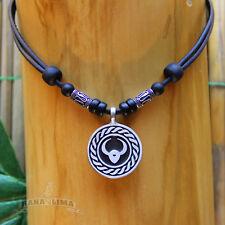 Zodiac Signs Necklace Bull Taurus adjustable leather surfer horoscope