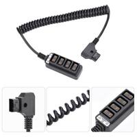 Male D-Tap Power Connector to 4-port Female P-Tap Cable Hub Adapter Splitter LJ