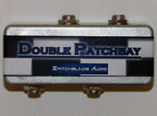 """Pedalboard Double Patchbay 2-Channel 1/4"""" Mono Guitar Bass Pedal Effects Studio"""