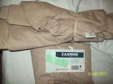 CANNON QUEEN Sz Brown Flat Sheet & 2 Matching Pillowcases Set-NEW
