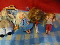 grand lot poupées mini  ,microbe   mattel ,poupée balancelle