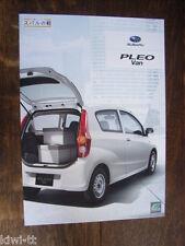 SUBARU PLEO Van Prospectus/Brochure/DEPLIANT, Japon, 4.2010