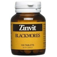 BLACKMORES ZINVIT 100 TABS ZINC & MAGNESIUM SUPPLEMENT VITAMIN ZINC DEFICIENCY