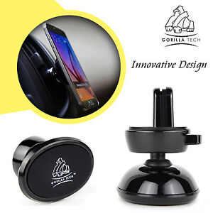Car Phone Holder Air Vent Mound Ultra Compact Strong Magnetic Design Rubber Pad