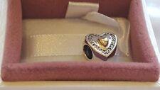 Pandora siempre en mi corazón encanto de plata con oro de 14K Con Caja