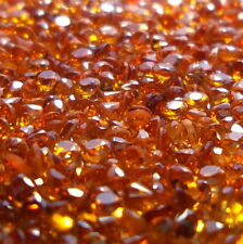 2.5 MM Natural Mandarin Spessartite Deep Orange Garnet Round Cut 100 Piece Lot