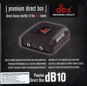 dbx DB10 Passive Direct Box, NEW! - FREE SHIPPING!!