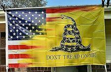 Don't Tread On Me American/Gadsden Flag 3'X5' Patriotic Freedom Banner USA