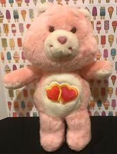 Vintage 1980s Care Bears Love-A-Lot Pink Hearts Stuffed Plush