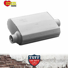 "Hooker 21502 Aero Chamber Muffler 2.5"" Offset Inlet Center Outlet 21502HKR New"