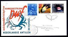 Dutch Antilles - 1960 Fight Cancer / Fish -  Mi. 110-12 addressed FDC (E16)
