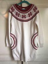 Gymboree Size 7 Winter Sweater Dress. Red & White