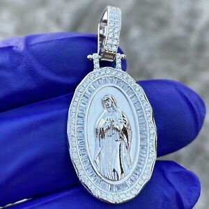 925 Sterling Silver Unisex CZ Cubic Zirconia Simulated Diamond Angel Religious Charm Pendant Necklace Measures 30.4x18.9mm Wide Jewelry Gifts for Women