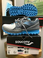 Saucony Women's Xodus Iso 2 Gry/Blue  Trail Running Shoes. Size 5.