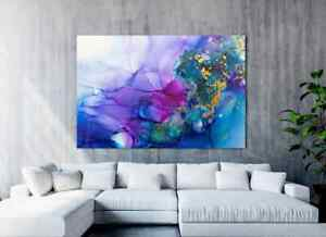 PAINTING   LARGE Canvas   Alcohol Ink  Canvas Painting Print Unframed
