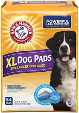 "Arm  Hammer 54 Count Puppy Training Pads with Baking Soda, X-Large/30"" x 22.5"