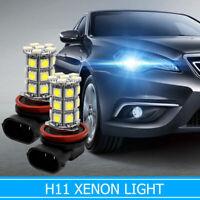 2x Bombillas H11 Coche 27 LED 5050 faros luces niebla lámpara Blanco 6000K xenón