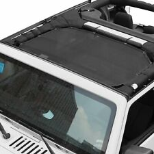 Sunshade Top Cover Provides UV Sun Protection for Jeep Wrangler JK JKU 2007-2018
