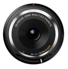 Olympus Fisheye Body Lens Cap 9mm F8 Black for Micro 4/3 Camera from Japan