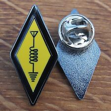 International Amateur Radio Symbol Logo Enamel Pin Badge Lapel Collar nt Sticker